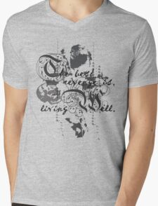 The Best Revenge is Living Well Mens V-Neck T-Shirt
