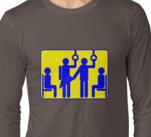 BUS PERVERT CHIKAN FROTTEURISM Long Sleeve T-Shirt