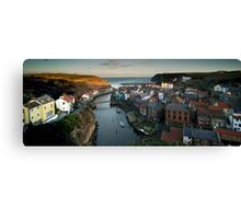 Staithes Panoramic, North Yorkshire Canvas Print