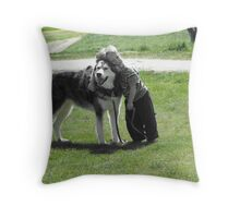 A Boy & His Dog Throw Pillow