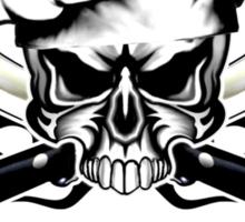 Chef Skull 12: Culinary Genius 3 black flames Sticker