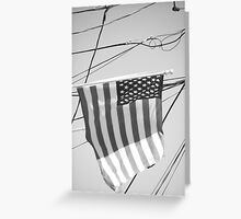 black and white flag Greeting Card