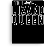 The Lizard Queen T Shirt For Reptile Lovers Canvas Print