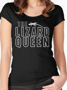 The Lizard Queen T Shirt For Reptile Lovers Women's Fitted Scoop T-Shirt