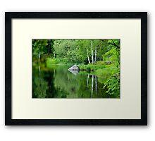 Peaceful lake in summer Framed Print