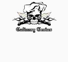 Chef Skull 13: Culinary Genius 3 black flames Unisex T-Shirt
