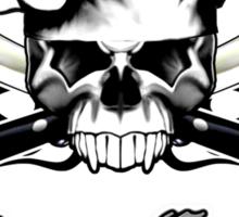 Chef Skull 13: Culinary Genius 3 black flames Sticker