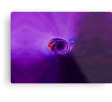 Purple Moon Eaten By Galaxy Metal Print