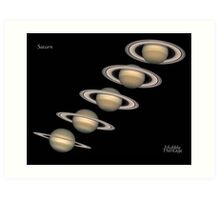 5 Saturns - 5 images of the planet Saturn Art Print