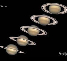 5 Saturns - 5 images of the planet Saturn by verypeculiar