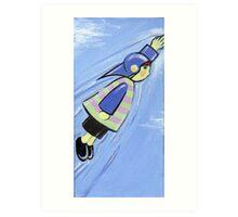 Boy and His Flying Helment : 1 Art Print