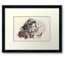 Rouge Passion (The 5 minute Make Up!) Framed Print