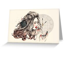 Rouge Passion (The 5 minute Make Up!) Greeting Card
