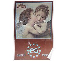 Ibiza 1995 es paradis vintage clubbing t-shirt Poster