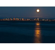 Moon over Water Photographic Print