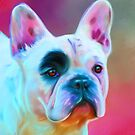 Paris French Bulldog Portrait Painting by Michelle Wrighton