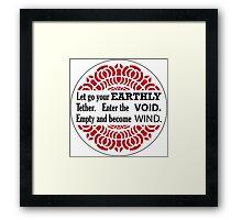 Enter the Void Framed Print