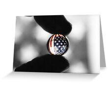 U.S. flag through marble Greeting Card