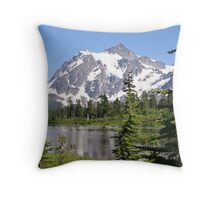 Mount Shuksan and Picture Lake in the Summer Throw Pillow