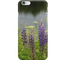 Lupin flowers at a lake iPhone Case/Skin