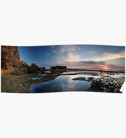 Peninsula Sunset Pan Poster