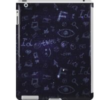 Background with hand drawn social media doodles iPad Case/Skin