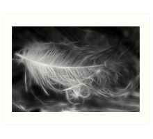 Floating Feather Dreams Art Print