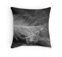 Floating Feather Dreams Throw Pillow