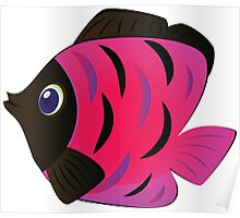 Colorful fish 4 Poster