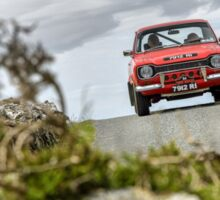 The Three Castles Welsh Trial - MK 1 Ford Escort - Photo Max Earey Sticker