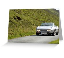 The Three Castles Welsh Trial - Fiat Dino Spider - Photo Max Earey Greeting Card