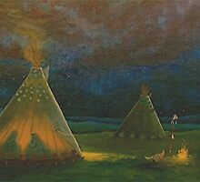 Tipi Meeting by Arnold Isbister