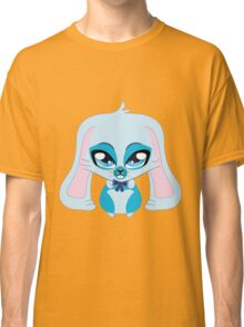 A cute blue bunny with a bow Classic T-Shirt
