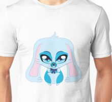 A cute blue bunny with a bow Unisex T-Shirt