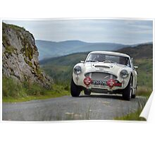 The Three Castles Welsh Trial - Healey 3000 - Photo Max Earey Poster