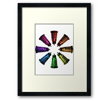 COLORFUL D Framed Print