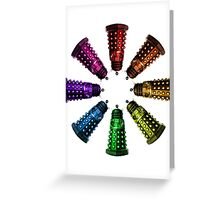 COLORFUL D Greeting Card