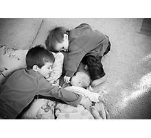 3 boys in love Photographic Print