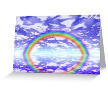 Big rainbow Greeting Card