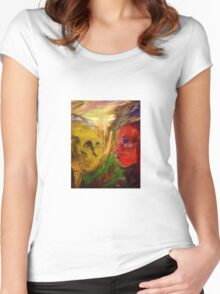 Figurative expressionist painting Women's Fitted Scoop T-Shirt