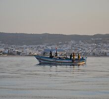 Fishing Boat In Tunisia by Malcolm Snook