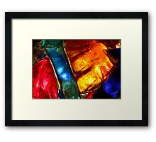 Stained glass mosaic, abstract colorful pattern Framed Print