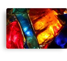 Stained glass mosaic, abstract colorful pattern Canvas Print