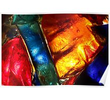 Stained glass mosaic, abstract colorful pattern Poster