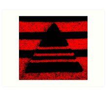 Crochet pyramid digitally manipulated Art Print
