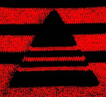 Crochet pyramid digitally manipulated by KerstinB