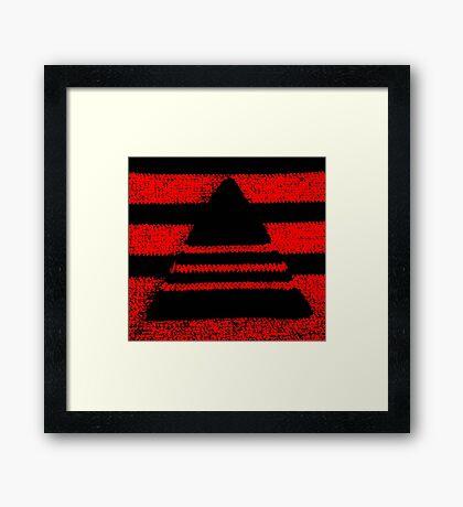 Crochet pyramid digitally manipulated Framed Print