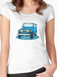 FJ40 Blue Women's Fitted Scoop T-Shirt