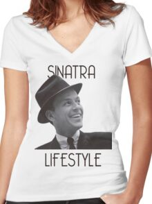 Sinatra Lifestyle Women's Fitted V-Neck T-Shirt
