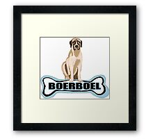 Boer Boel and  dog bone Framed Print